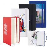Notebook with Elastic Closure and Expandable Pocket