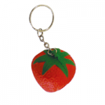 anti stress strawberry keyring