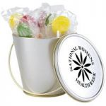 Lollipops in Tin Buckets