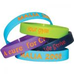Colour Filled Debossed Wristband