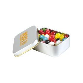 Jelly Beans  in Silver Rectangular Tins