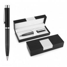 Derofe Stripe Black Ballpoint Pen