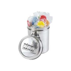 Lollipops in 12cm Stainless Steel Canisters