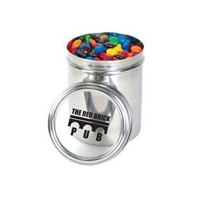 M&M's in 12cm Stainless Steel Canisters